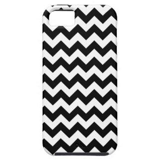 Het zwart-witte Patroon van de Zigzag Tough iPhone 5 Hoesje