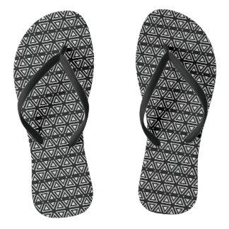 Het zwart-witte Patroon van de Zigzag van het Teenslippers