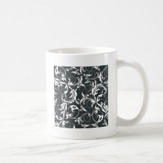 Het zwart-witte Patroon van het Blad Koffiemok
