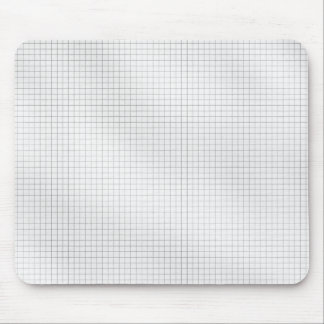 Het zwart-witte Patroon van het Net op papier Muismat