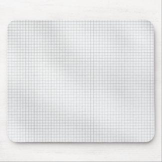 Het zwart-witte Patroon van het Net op papier Muismatten