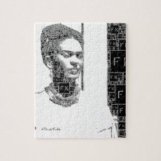 Het Zwart-witte Portret van Frida Kahlo Legpuzzel