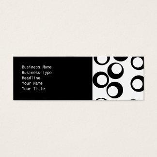 Het zwart-witte Retro Patroon van Cirkels Mini Visitekaartjes