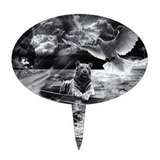 Het zwart-witte Varende Dakraam van de Boot van de Taart Prikker
