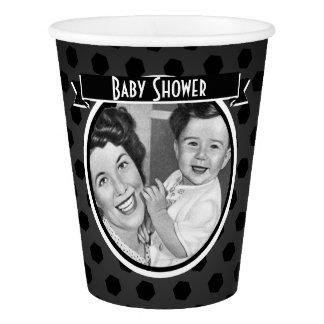 Het zwart-witte Vintage Baby shower van het Mamma