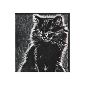 Het zwarte Afbeelding van het Kat van de Canvas Afdrukken