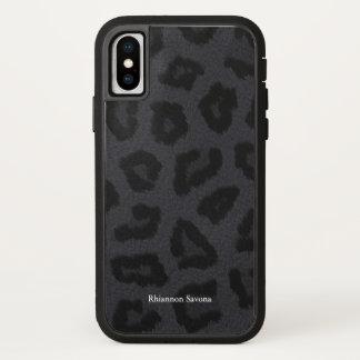 Het zwarte Bont van de Panter iPhone X Hoesje