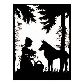 Het zwarte Bos van de Wolf van de Kap van het Briefkaart