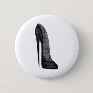 Het zwarte Elegante Art. van de Schoen van de Hiel Ronde Button 5,7 Cm
