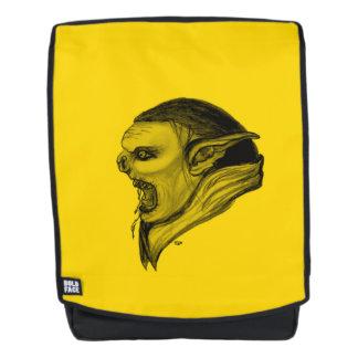 Het Zwarte en Gele Ontwerp van de sleeplijn Rugtassen