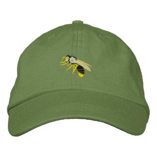 Het zwarte en gele pet van het bijenwesp geborduurde pet