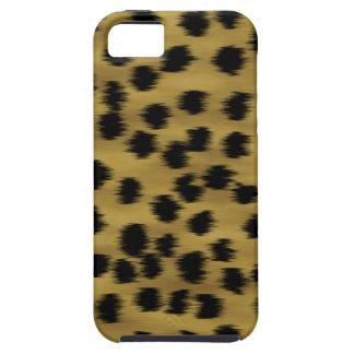 Het zwarte en Gouden Bruine Patroon van de Druk Tough iPhone 5 Hoesje