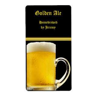Het zwarte en Gouden Etiket van het Bier