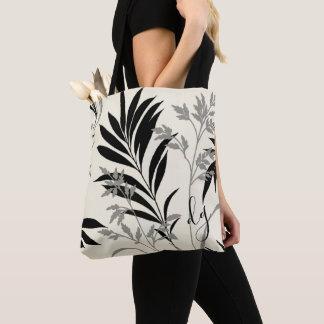 Het zwarte en Grijze Canvas tas van de Varenbladen