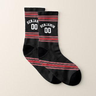 Het zwarte en Rode Aantal van de Naam van de Sokken
