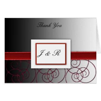 Het zwarte en rood een diploma behaalde weddding briefkaarten 0