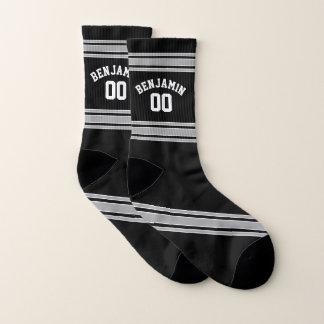 Het zwarte en Zilveren Aantal van de Naam van de Sokken