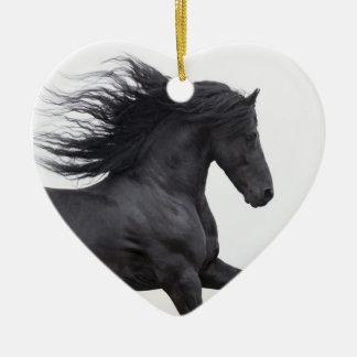 Het zwarte Friesian Ornament van Kerstmis van het
