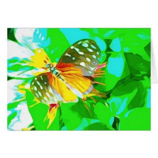 Het Zwarte Gele Bevlekte Wit van de vlinder Kaart