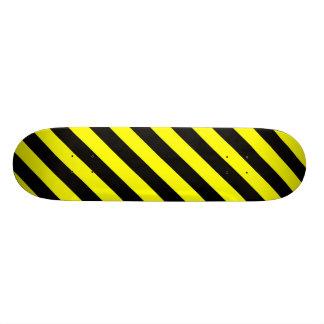 Het zwarte & Gele Skateboard van het Patroon van