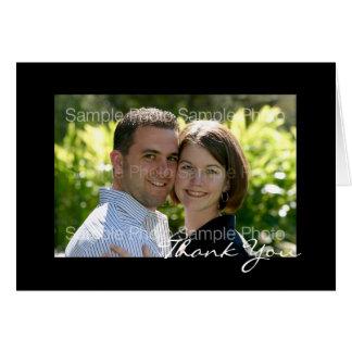 Het zwarte Gepersonaliseerde Huwelijk van de Foto Kaart