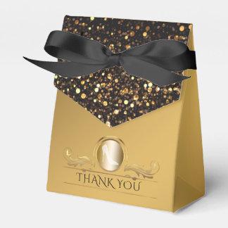 Het zwarte Goud schittert Schoenen van de Hiel van Bedankdoosjes