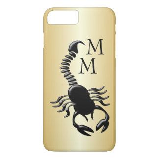 Het zwarte Goud van het Ontwerp van de Schorpioen iPhone 8/7 Plus Hoesje