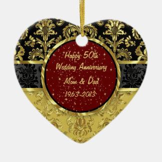Het zwarte & Gouden 50ste Ornament van het Jubileu