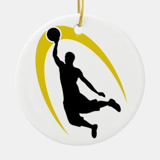 Het zwarte Gouden Gepersonaliseerde Logo van het Rond Keramisch Ornament
