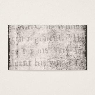 Het Zwarte Grijze Document van het Perkament van Visitekaartjes