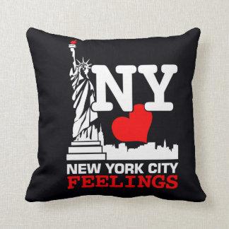 Het Zwarte Hoofdkussen van de Stad van New York Sierkussen