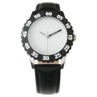 Het Zwarte Horloge van het roestvrij staal,