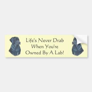 het zwarte Labrador ontwerp van de de kunstslogan Bumpersticker
