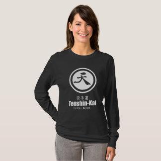 Het zwarte lang-sleeve van de Karate tenshin-Kai T Shirt