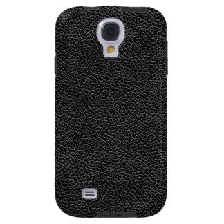 Het Zwarte Leer van Faux Galaxy S4 Hoesje