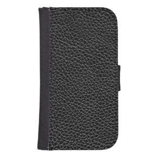 Het Zwarte Leer van Faux Galaxy S4 Portemonnee Hoesje