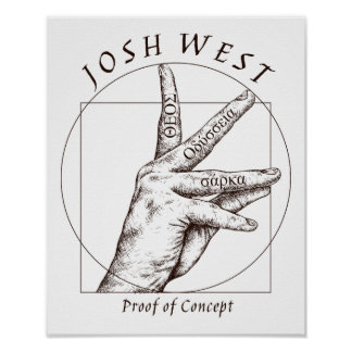 Het Zwarte Logo van het bewijs van Concept Poster