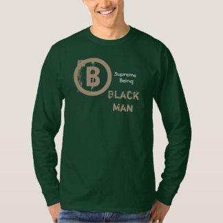 Het zwarte Man, blijft Waar groen lang T Shirt