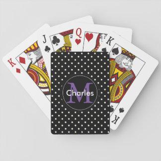 Het zwarte Monogram van Stippen. Verjaardag, de Speelkaarten
