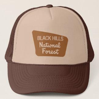 Het zwarte Nationale Bos van Heuvels (Teken) Trucker Pet