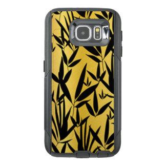 Het zwarte Ontwerp van het Patroon van het Blad OtterBox Samsung Galaxy S6 Hoesje