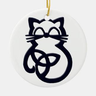 Het zwarte Ornament van de Kat van de Knoop van de