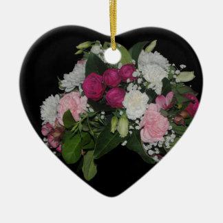 Het zwarte Ornament van het Hart van de Bloem
