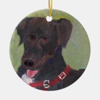 Het zwarte Ornament van Kerstmis van de Hond