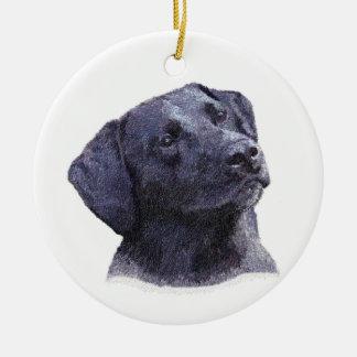 Het zwarte Ornament van Labradore Retreiver