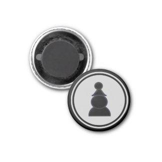 Het Zwarte Pand van het Schaakstuk Ronde Magneet 3,2 Cm