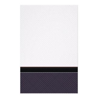 Het zwarte Patroon van de Plaid met Grens Briefpapier