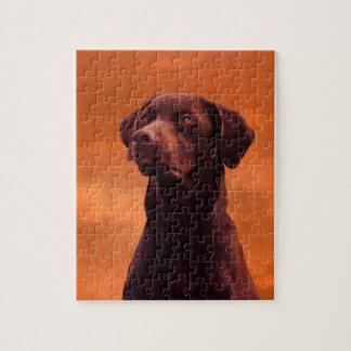 Het zwarte Portret van de Labrador Puzzel