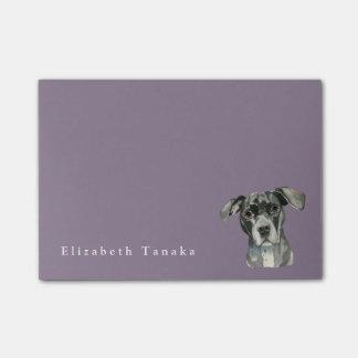Het zwarte Portret van de Waterverf van de Hond Post-it® Notes