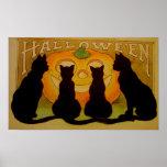 Het zwarte Poster van Halloween van de Pompoen van